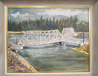 Burt Green's Painting of the Three Way Bridge